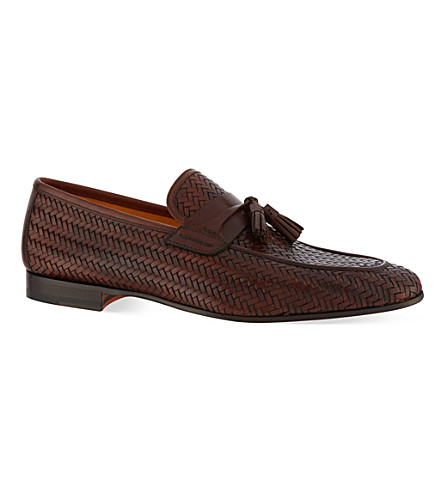 MAGNANNI Woven tasselled loafers (Brown