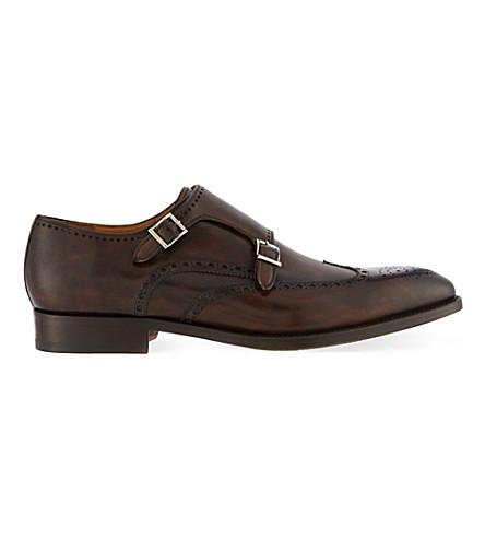 MAGNANNI 双和尚鞋 (棕色