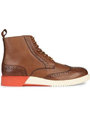ANTHONY MILES Burrell leather contrast boots