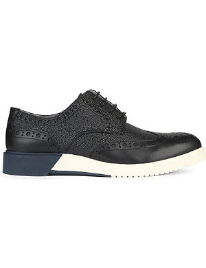 ANTHONY MILES Brogue derby leather shoes