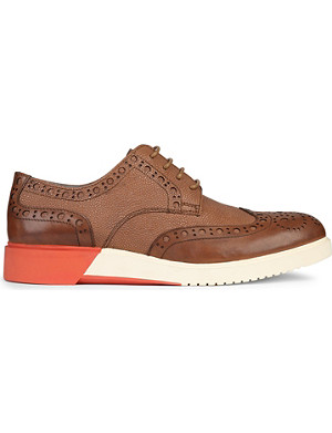 ANTHONY MILES Brooke contrast leather brogues