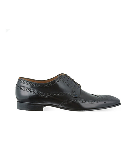 PAUL SMITH Aldrich leather Derby shoes (Black