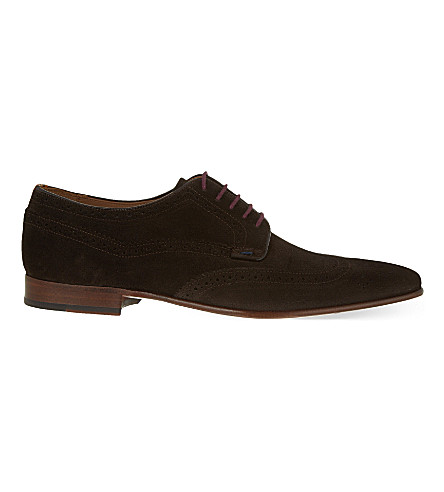 PAUL SMITH Aldrich suede Derby shoes (Brown