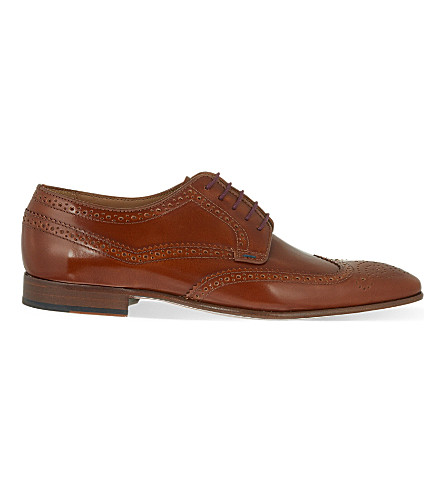 PAUL SMITH Aldrich leather Derby shoes (Tan