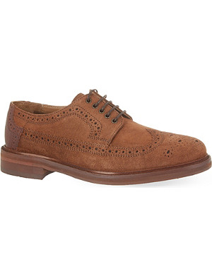 H BY HUDSON Haddow suede brogues