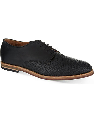 H BY HUDSON Hadstone woven Derby shoes