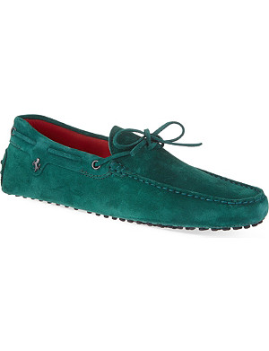 TODS Ferrari 22 tie driving shoes in suede