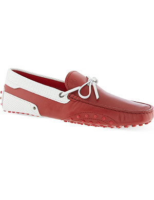TODS Perforated leather driving shoes