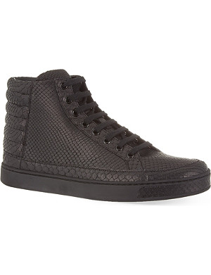 GUCCI Common python high-top trainers