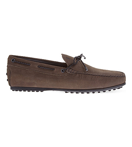 TODS Scooby Doo nubuck driving shoes (Brown