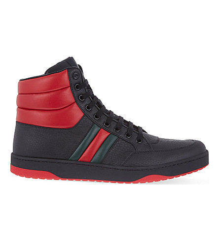 GUCCI Ronnie padded high-top trainers (Black