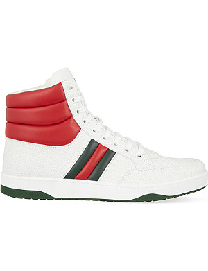 GUCCI Ronnie padded high-top trainers