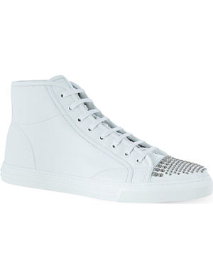 GUCCI California studded high-top trainers