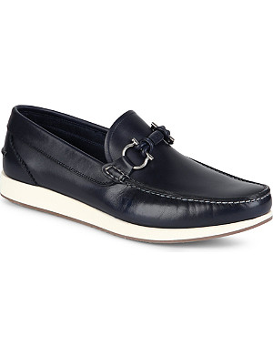 FERRAGAMO Nidal leather loafers