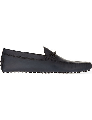 TODS Tube leather loafers