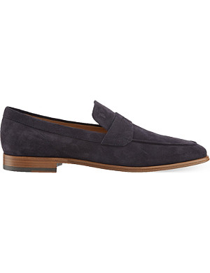 TODS Suede penny loafers