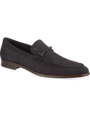 TODS Tube suede loafers