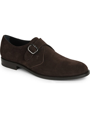 TODS Suede monk-strap shoes
