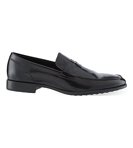 TODS Penny Spatz loafers (Black