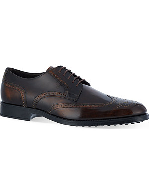 TODS Derby wingcap brogues