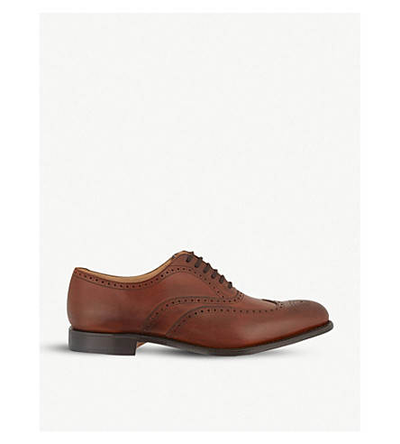CHURCH Berlin punched wingcap Oxford shoes (Mid+brown