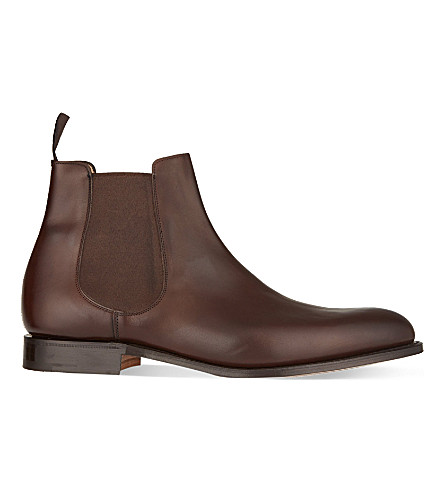 CHURCH Houston leather Chelsea boots (Dark+brown