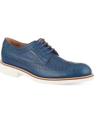 TODS Micro wingtip Derby shoes