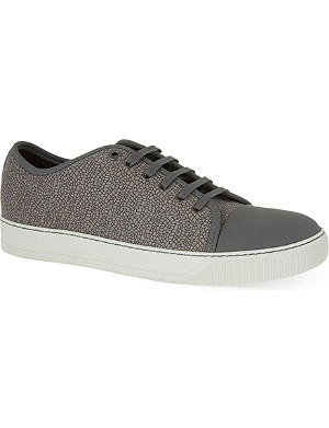 LANVIN Elli embossed lace up trainers
