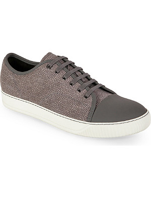LANVIN Elli textured leather trainers