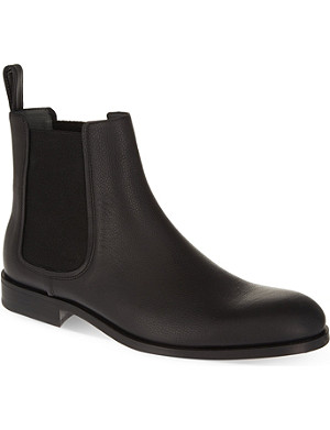 LANVIN Raw edge Chelsea boots
