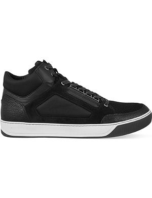 LANVIN Mesh mid-top trainers