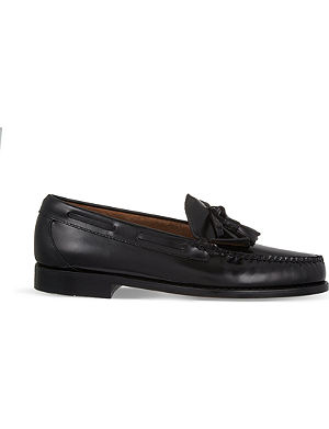 BASS WEEJUNS Layton moc kiltie loafers