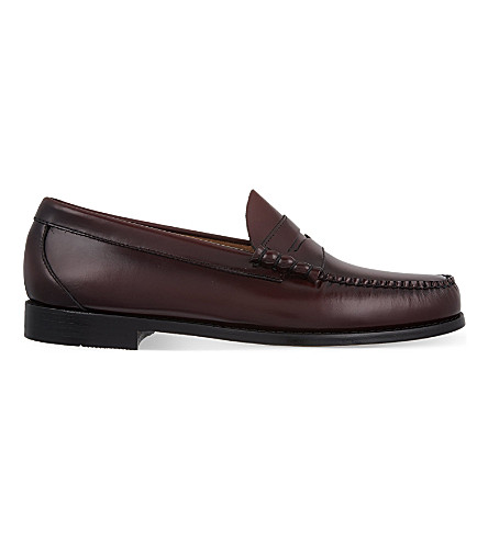 BASS WEEJUNS Larson moccasin penny loafers (Wine
