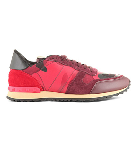 VALENTINO Camouflage-print trainers (Red
