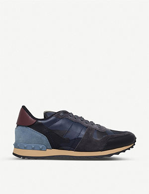 VALENTINO Full leather camouflage trainers