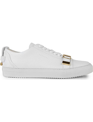 BUSCEMI Buckle toe low-top leather trainers