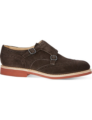 CHURCH Kelby suede double monk shoes