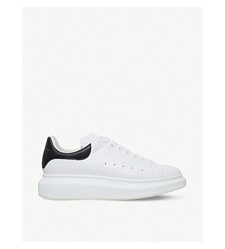 ALEXANDER MCQUEEN Mens show leather platform trainers (White