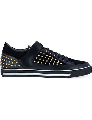 VERSACE Studded leather trainers