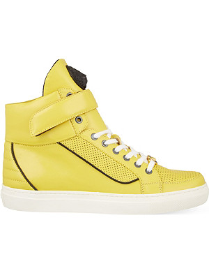 VERSUS Leather high-top trainers