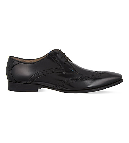 OLIVER SWEENEY Buxhall wingcap Derby shoes (Black