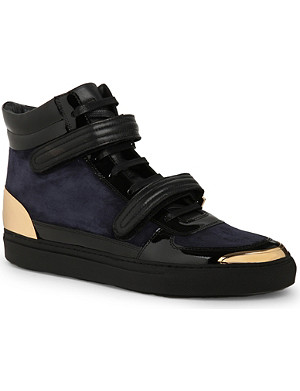 LOUIS LEEMAN Double-strap high-top trainers