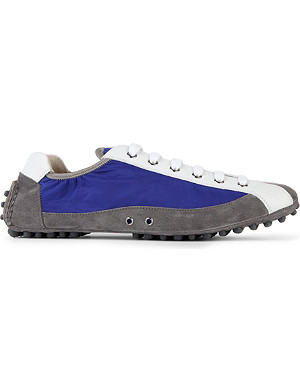 CARSHOE Contrast-panel suede driving sneakers