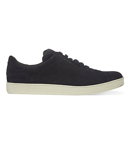 TOM FORD Russel suede trainers (Navy