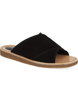 DRIES VAN NOTEN Cross suede sandals