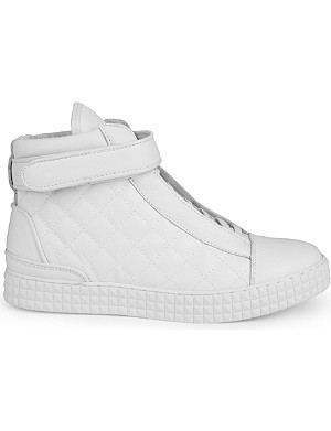 SUSUDIO Diamond high-top leather trainers