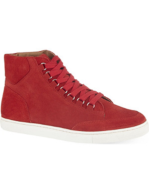 KG KURT GEIGER Brickers suede high-top trainers