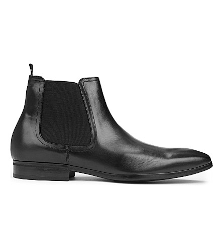 KURT GEIGER LONDON Gerald leather Chelsea boots (Black
