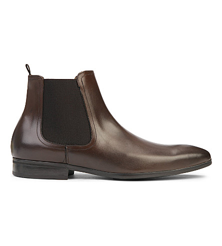KURT GEIGER LONDON Gerald leather Chelsea boots (Brown