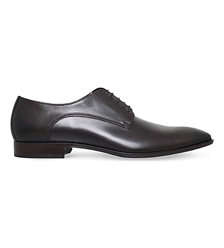 BOSS Carmons leather Derby shoes (Dark+brown